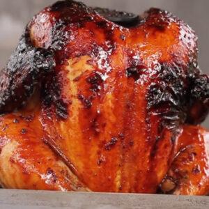 Kurczak grillowany na stojaku Weber Style