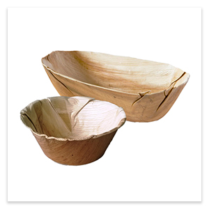 Palm leaf dishes